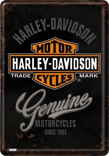 10124 Postikortti Harley-Davidson Genuine logo