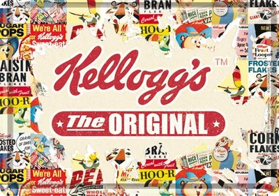 10164 Postikortti Kellogg's The Original collage