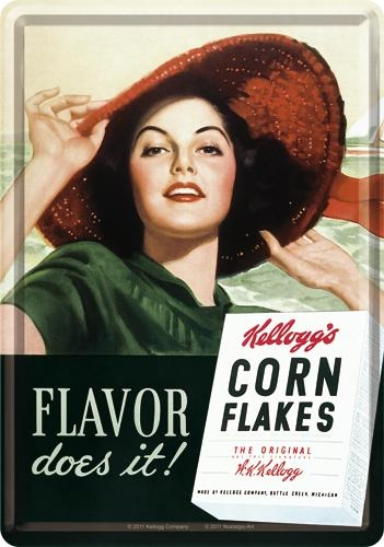 10165 Postikortti Kellogg's Corn Flakes Flavor does it!