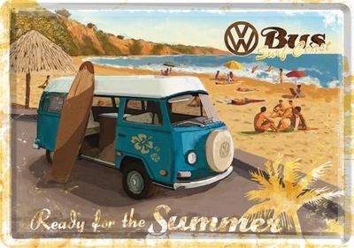 10172 Postikortti VW Bus Ready for the summer