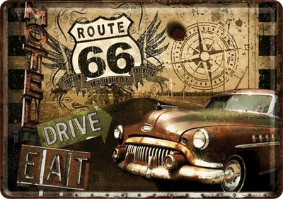 10201 Postikortti Route 66 Drive & Eat