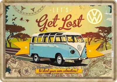 10223 Postikortti VW Bulli Let's get lost