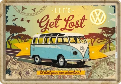 10223 Postikortti VW Let's get lost
