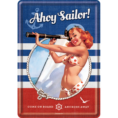 10272 Postikortti Pin Up Ahoy Sailor!