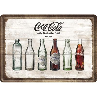 10277 Postikortti Coca-Cola In the Distinctive Bottle aikajana