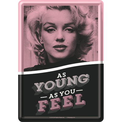 10302 Postikortti Marilyn As young as you feel