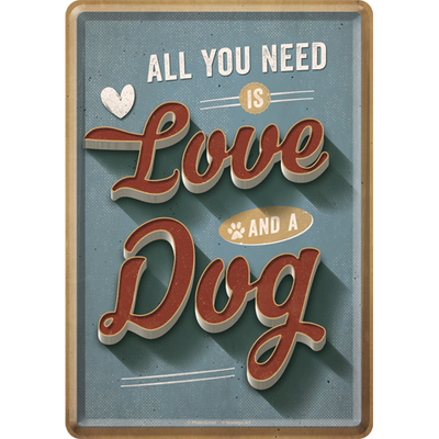 10311 Postikortti All you need is Love and a Dog