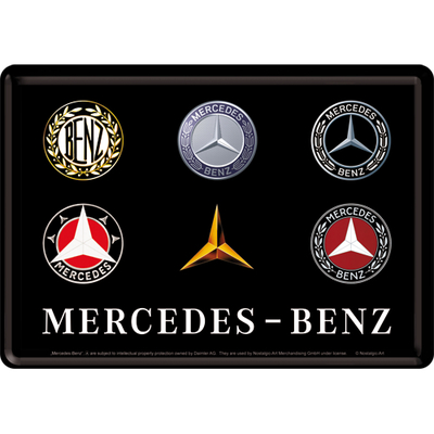 10318 Postikortti Mercedes-Benz logot