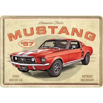 10326 Postikortti Ford Mustang - GT 1967 Red