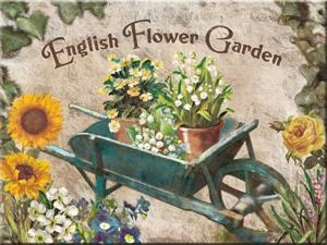 14266 Magneetti English Flower Garden kottikärry