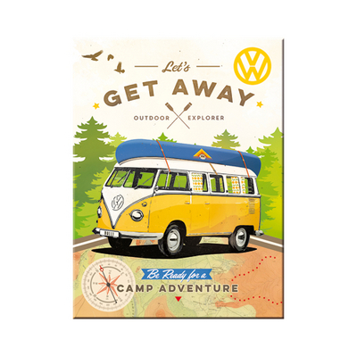14330 Magneetti VW Bulli Let's get away