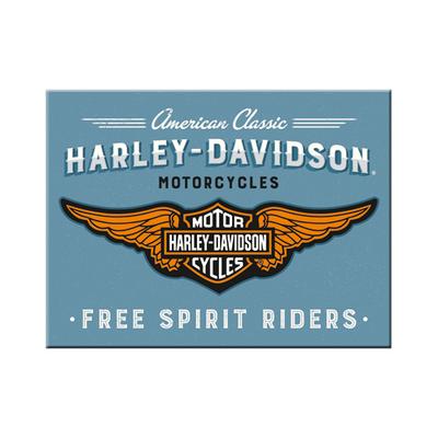 14375 Magneetti Harley-Davidson logo sininen