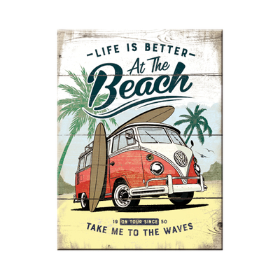 14376 Magneetti VW Bulli Life Is Better At The Beach