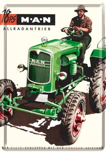 16223 Postikortti M.A.N traktori