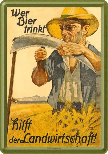 16593 Postikortti Wer Bier trinkt... mies