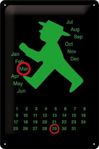 20258 Kalenterikilpi 20x30 Ampelman vihreä