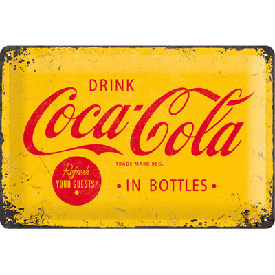 22228 Kilpi 20x30 Coca-Cola in bottles
