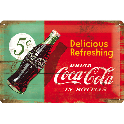 22229 Kilpi 20x30 Coca-Cola 5c Delicious Refreshing