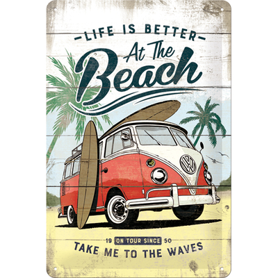 22277 Kilpi 20x30 VW Bulli Life Is Better At The Beach