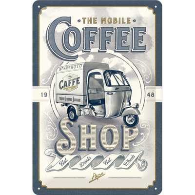 22287 Kilpi 20x30 Ape The Mobile Coffee Shop