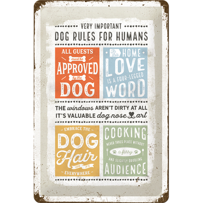 22289 Kilpi 20x30 Dog rules for humans