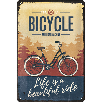 22293 Kilpi 20x30 Bicycle Life is a beautiful ride