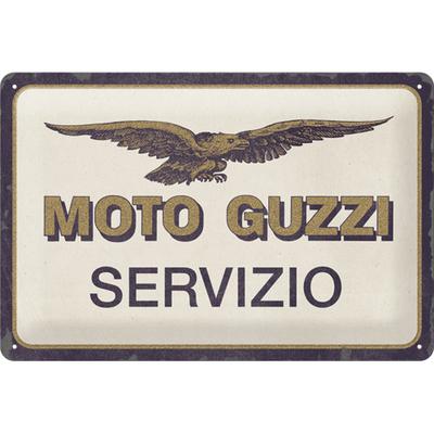 22317 Kilpi 20x30 Moto Guzzi - Servizio