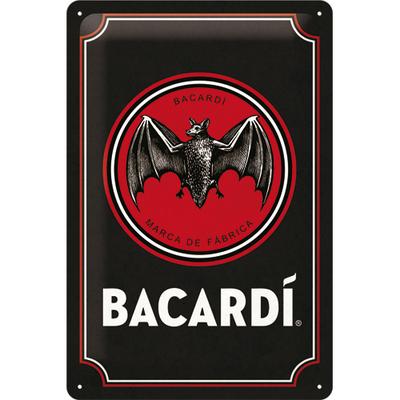 22319 Kilpi 20x30 Bacardi Logo -Black