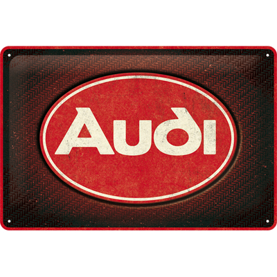 22326 Kilpi 20x30 Audi - Logo Red Shine