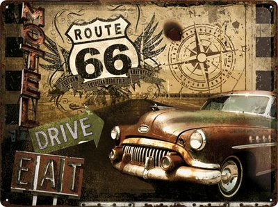 23147 Kilpi 30x40 Route 66 Drive & Eat