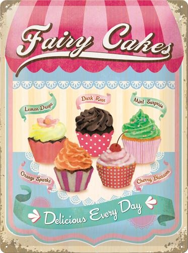 23158 Kilpi 30x40 Fairy Cakes Delicious Every Day