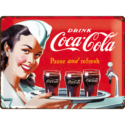 23192 Kilpi 30x40 Coca-Cola Pause and refresh