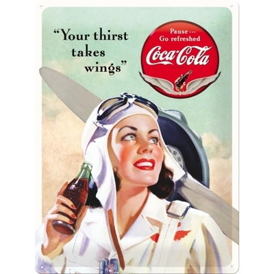 23194 Kilpi 30x40 Coca-Cola Your Thirst Takes Wings