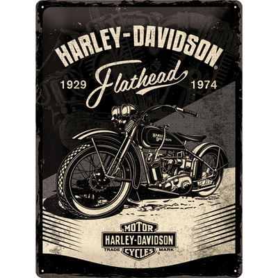 23247 Kilpi 30x40 Harley-Davidson - Flathead Black