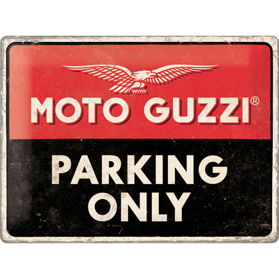 23261 Kilpi 30x40 Moto Guzzi Parking Only