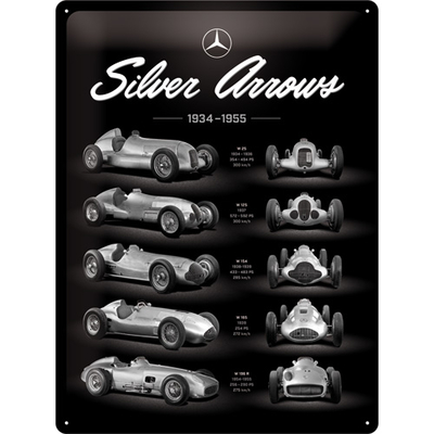 23268 Kilpi 30x40 Mercedes-Benz - Silver Arrow Chart