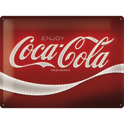 23282 Kilpi 30x40 Coca-Cola - Logo Red Lights