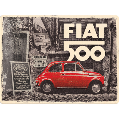 23295 Kilpi 30x40 Fiat 500 - Red Car In The Street