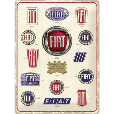23297 Kilpi 30x40 Fiat - Logo Evolution