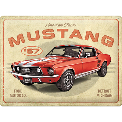 23298 Kilpi 30x40 Ford Mustang - GT1967 Red