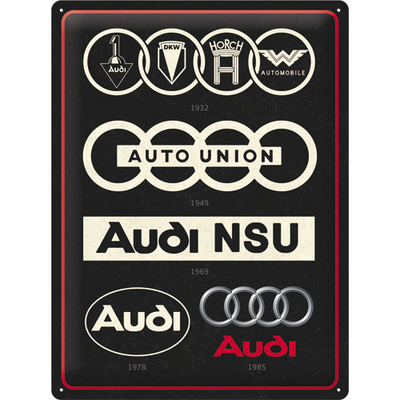 23306 Kilpi 30x40 Audi - Logo Evolution