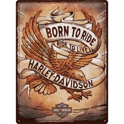 23317 Kilpi 30x40 Harley Davidson - Born to Ride Eagle