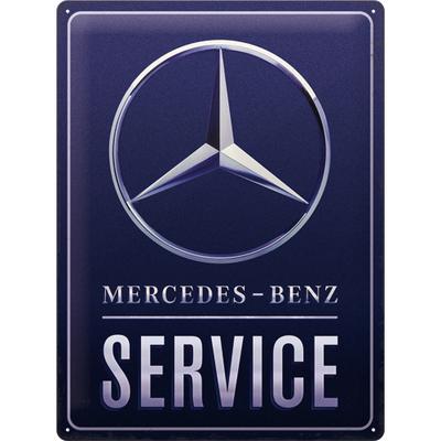 23318 Kilpi 30x40 Mercedes Benz - Service Blue