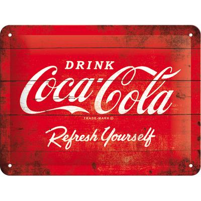 26173 Kilpi 15x20 Coca-Cola logo punainen
