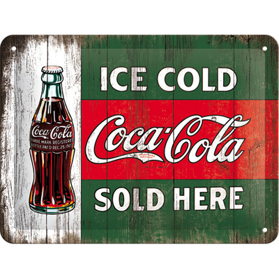 26174 Kilpi 15x20 Coca-Cola Ice cold sold here