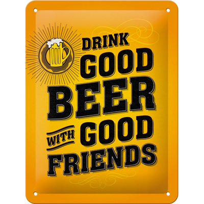 26204 Kilpi 15x20 Drink good beer with good friends