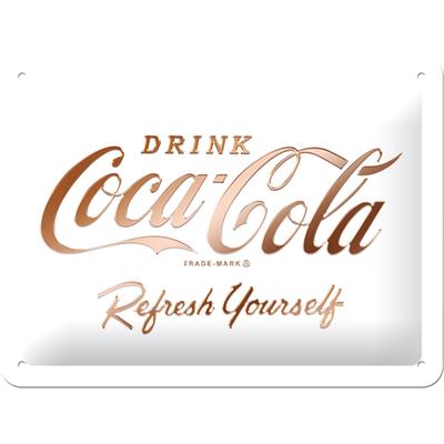 26235 Kilpi 15x20 Coca-Cola logo valkoinen