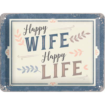 26239 Kilpi 15x20 Happy Wife Happy Life