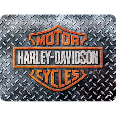 26250 Kilpi 15x20 Harley-Davidson - Diamond Plate