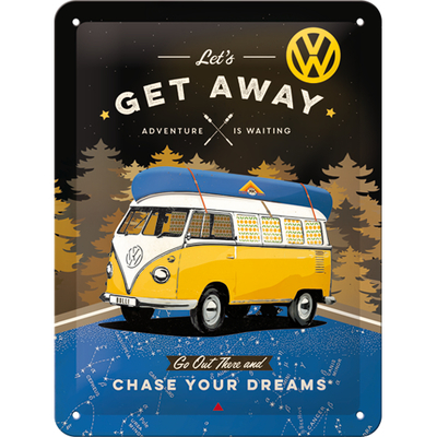 26251 Kilpi 15x20 VW Bulli - Let's Get Away Night